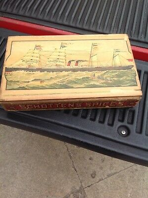 Schotten's Spice Box Advertising Box Circa 1910 Out Of St.Louis Must See! 11x18