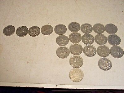 Lot of 21 Great Britain/United Kingdom Coins & 1 French Franc