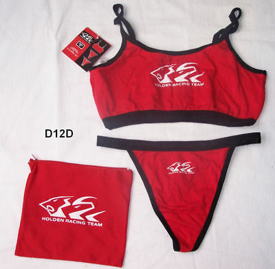 Holden Racing Team HRT Ladies Red Crop Top & G String Underwear Set Size XL New