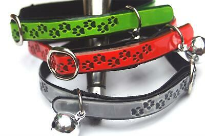 REFLECTIVE CAT COLLAR with BELL & SAFETY ELASTIC, light weight, easily cleaned