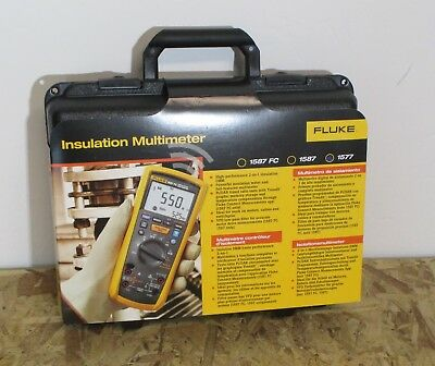 Fluke 1577 Insulation Multimeter, MegOhmMeter Test Voltages: 500 V, 1000 V