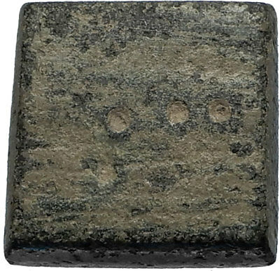 Authentic Ancient 800AD Byzantine Nomisma Solidus Bronze Weight CROSS - i67086