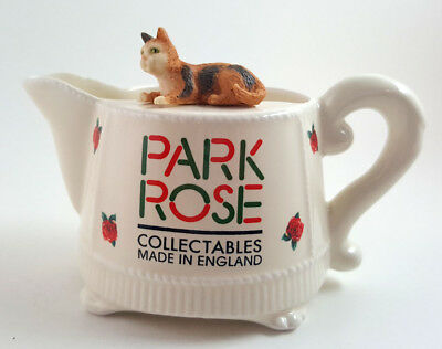 Park Rose Collectable Made in England screamer with calico cat Mint c2000