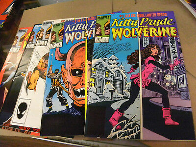 Marvel 1984 X-Men 5 of 6 issues KITTY PRYDE AND WOLVERINE 1 2 3 4 5 qq