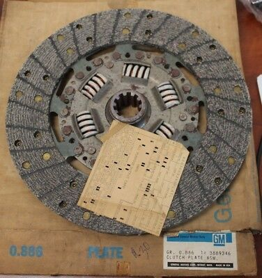 1964-1967 Nos Chevrolet Nova,chevy Ii,chevelle,pass, 10 Clutch Disc Gm 3889346