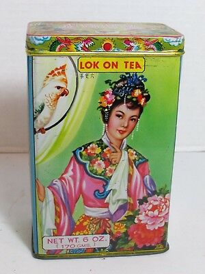Vintage Lok On Tea Kwong Sang Tea Company Hong Kong Tea Tin