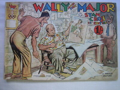 Wally & The Major Comic Book by Stan Cross 1956 Melbourne Olympic scarce Good