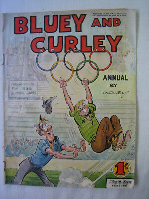 Bluey & Curley Comic Book by Gurney preps for 1956 Melbourne Olympic scarce OK