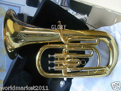 #6 Hand Polished Gold Lacquer Standard Musical Instruments French Euphonium