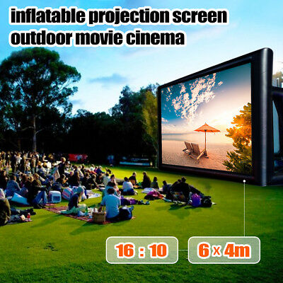 6M x 4M Inflatable Outdoor Movie Projection Screen Party Backyard Beach Cinema