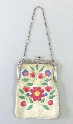 Antique Vintage Native American Embroidered Bag / Purse