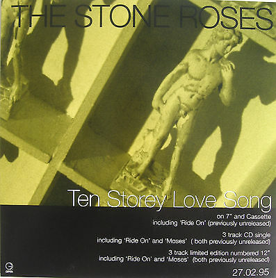 STONE ROSES Display Poster Ten Storey Love Song UK PROMO ONLY In-store