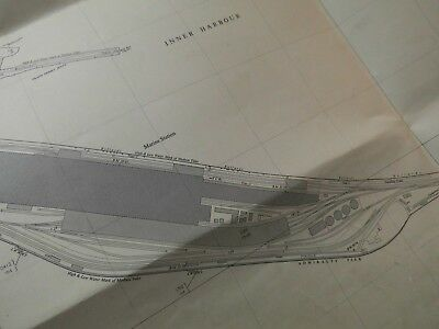 "Dover Marine Station, Admiralty, Prince Of Wales Piers: 25"" Planner's Map 1950's"