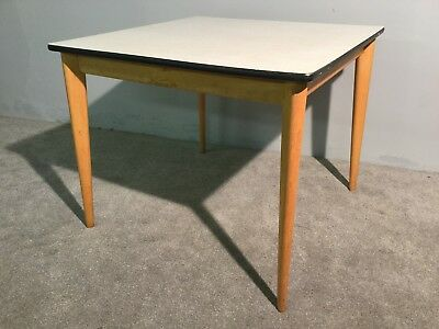 Vintage Retro Ben Chairs Square Formica Kitchen Dining Table