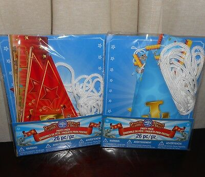 RINGLING BROS & BARNUM+BAILEY CIRCUS BANNER PARTY PACKS 26pc NEW LOT of 2 PACKS