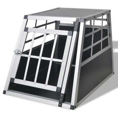 Cage box caisse de transport chien mobile ALUMINIUM 170016#