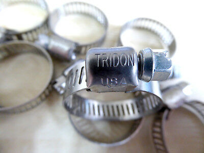 x10 Genuine Tridon USA Stainless Steel Worm Drive Hose Clips 11-25mm 8mm Band