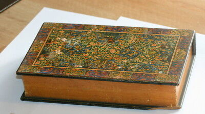 Dated 1835 Treen Box  ! Mauchline Ware , Like A Book,  8.5 In X 5 In Good Cond.