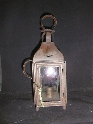 Antique French Tole ware candle lantern. Complete & original c1900 Size 0