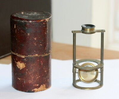 Small  Field Microscope Wethering , With Its Box, All Good Cond.  4 In High