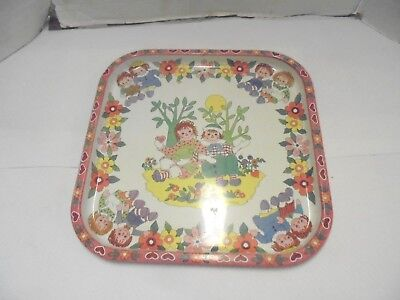 tin tray daher decorated ware england raggedy ann and andy by pritchard i love u
