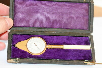 Quality Opisometer Map Measure Excellent Cond. With Its Case Etui Box, Gilded