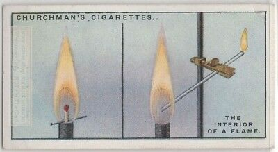 Candle Flame Gas Science Experiment Fire 1920s Trade Ad Card