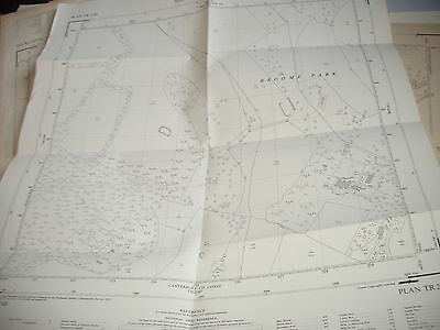 "Barham & Broome Park:kent: Vintage Map:  1957: 25""Mile Ordnance-Landtax Register"