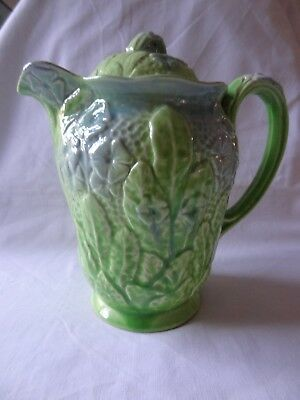 Melba Ware . H Wain and Sons. Coffee Pot Melba Works Longton . Green and Blue .