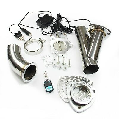 "STAINLESS UNIVERSAL EXHAUST CUTOUT-OUT VALVE E-CUT KIT REMOTE 2.5"" / 63,5 mm"