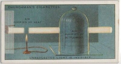 Demonstrating Unreflected Light Is Invisible Science Experiment 1920s Trade Card