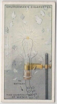 Hydrogen And Oxygen Makes Water Science  Experiment 1920s Trade Ad Card