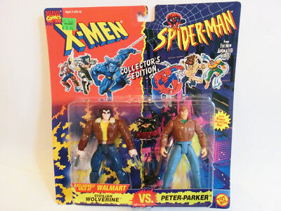 Wolverine Vs Peter Parker Walmart Exclusiv X-Men Spider Man Actionfiguren Toybiz