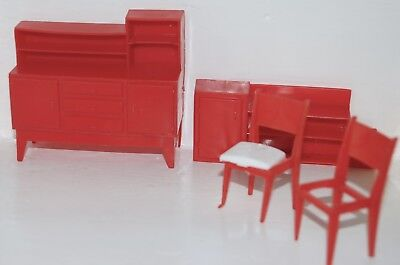Vintage Retro Dolls House Furniture Plastic Orginal 60's 70's - See Photos