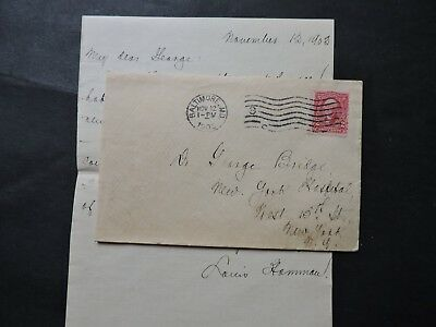 1903 Baltimore Md Cover +Letter Signed Dr Louis Hamman ! Clinician Medical Md !!