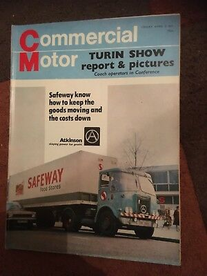 Commercial Motor truck lorry magazine April 2 1971