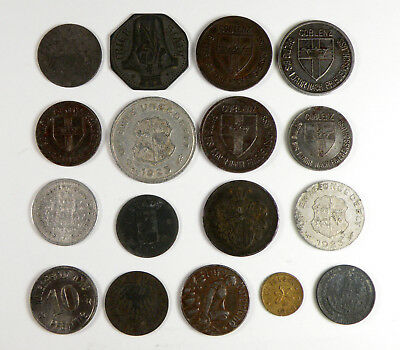 Lot of 17 Miscellaneous 1917-18 Plus German Trade Tokens