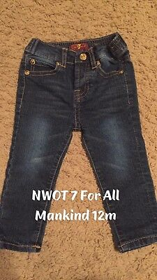 Girls' Clothing (newborn-5t) Baby & Toddler Clothing Useful 7 For All Mankind The Skinny Jeans 12 M Months Euc Light Wash