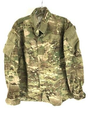 OCP Multicam Jacket, Army Combat Uniform Coat, Insect Flame Resistant, Small