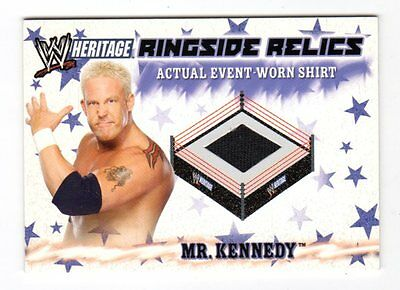 Mr Kennedy 2007 Topps Heritage Iii Wwe Ringside Relics (Event Worn Shirt)