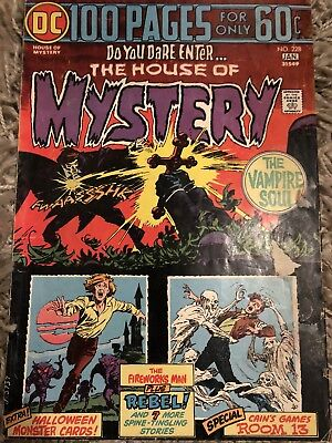 Dc comics house of mystery 100 page special #228 1974 horror comic