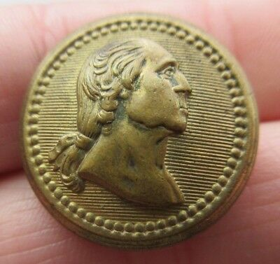 Very Nice Antique~ Vtg Metal Political Picture BUTTON George Washington (P24)