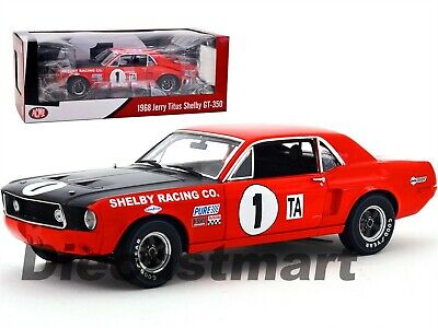 1968 Ford Shelby Gt-350 Mustang #1 Jerry Titus 1:18 Acme By Greenlight 12988 New