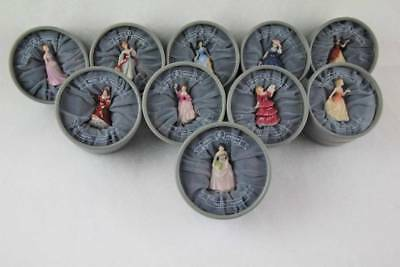 "Royal Doulton Complete Set 10 Pretty Ladies Miniatures (2""), 2002, NEW in Boxes"