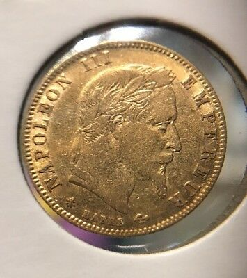 1862 A France (2nd Empire), Napoleon III. Nice Gold 5 Francs Coin. 1.62gm!