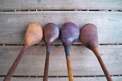 4 Antique Vintage Hickory Woods For Display