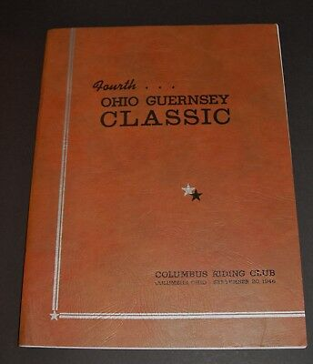 1946 Ohio Guernsey Classic Columbus Riding Club Antique Dairy Cow Advertising
