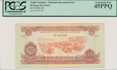 South Vietnam - National Liberation Front 1963 50 Dong P-R8 PCGS XF45