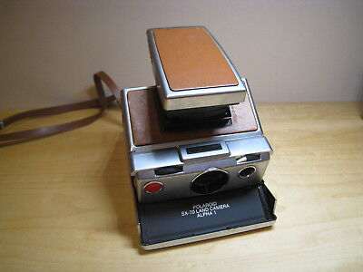 Vintage Polaroid Sx-70 Land Camera Alpha 1 Silver As Is For Parts Or Restore
