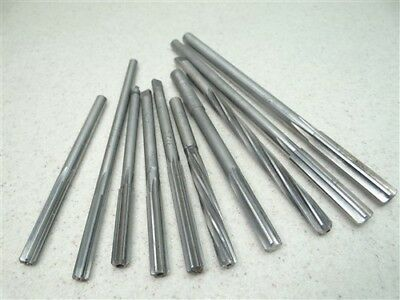 """Lot Of 10 Assorted Hss Chucking Reamers """"h"""" To 27/64"""" Cleveland L&i Btc"""
